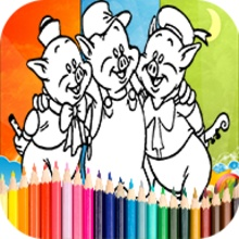 Coloring 3 Little Pigs Games