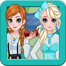 Dress up Elsa and Anna game
