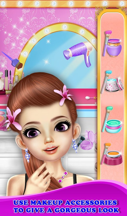Makeup And Dressup Me Girls Fashion Salon