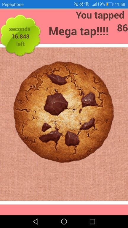 Tap the cookie Master