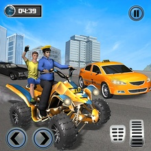 Taxi Cab ATV Quad Bike Limo City Taxi Driving Game