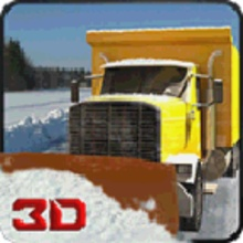 Winter Snow Plow Truck Driver