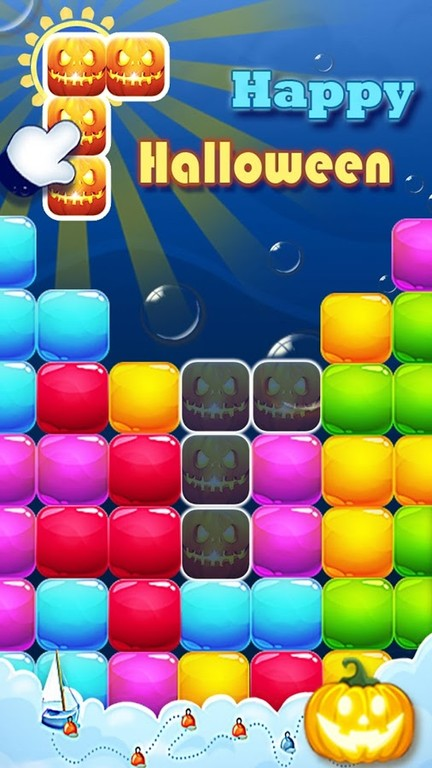 candy block puzzle – Halloween